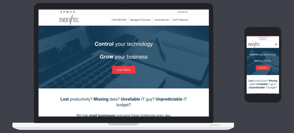 Managed IT Website client - EndevTec Case Study