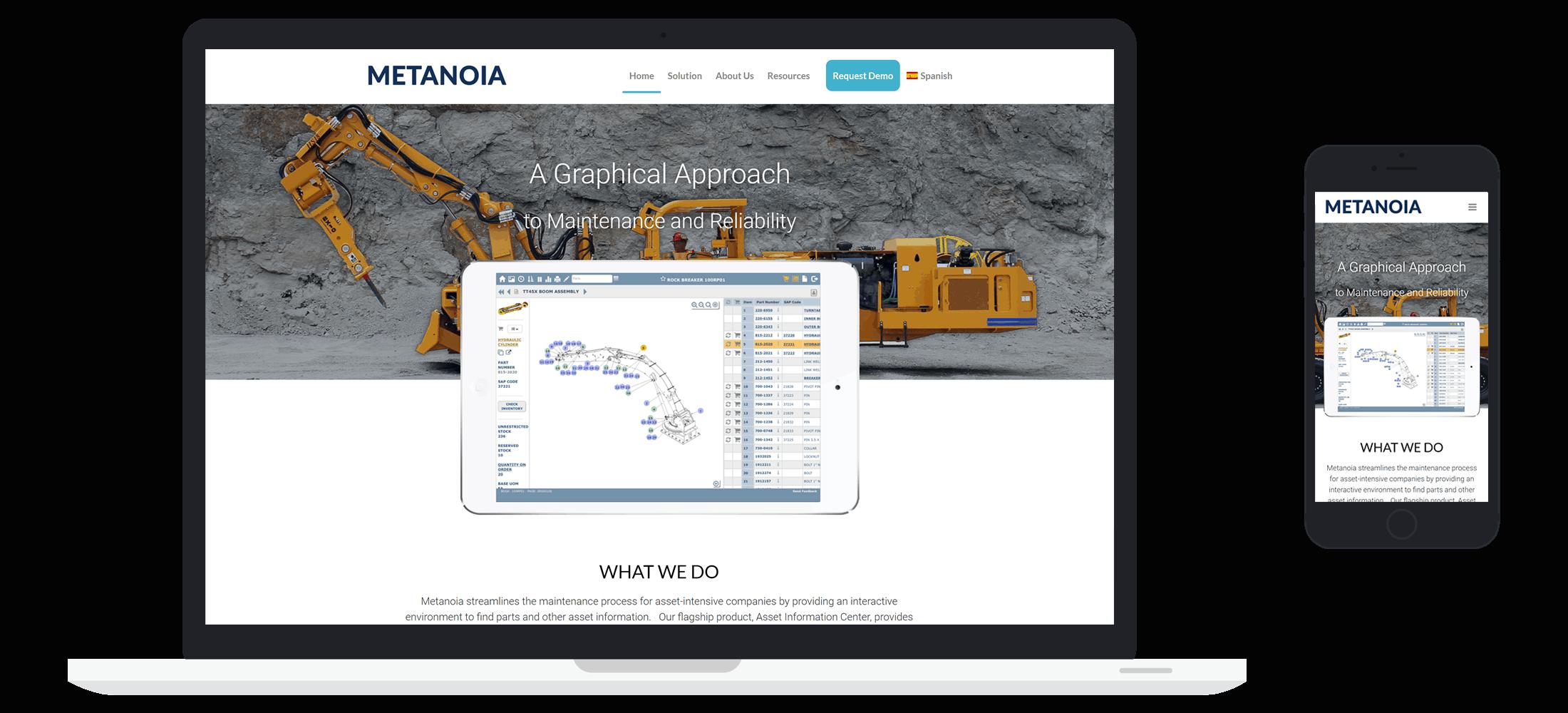 Managed IT Website client - Metanoia Case Study