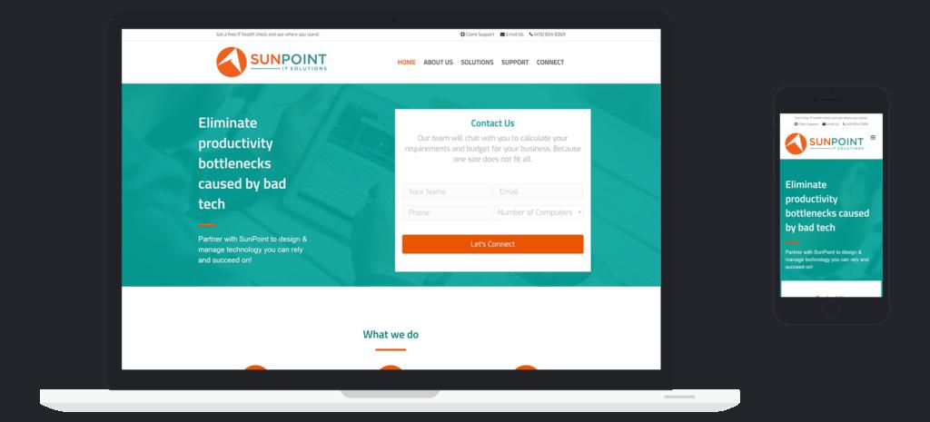 Managed IT Website client - Sunpoint IT Case Study